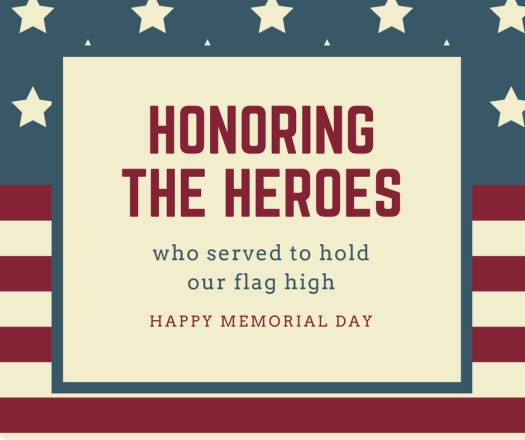 Flag Memorial Day Facebook Post