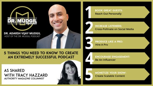 Tracy Hazzard, Authority Magazine, Medium, BuzzFeed, Dr. Adarsh Vijay Mudgil, The Dr. Mudgil Podcast